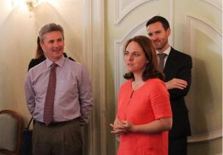 (de g. à dr.): Paul Dühr; Corinne Cahen, Jean-Louis Thill