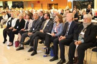 S.A.R. le Grand-Duc héritier, Corinne Cahen, ministre de la Famille et de l'Intégration et Lydia Mutsch, ministre de la Santé, au 11e Congrès EAMHID