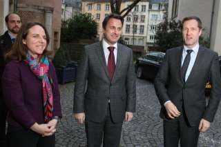 Le Premier ministre, ministre d'État, Xavier Bettel, accueillera  le ministre-président de la Wallonie, Paul Magnette,, Xavier Bettel, Corinne Cahen et Paul Magnette