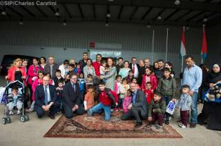 Accueil de réfugiés syriens par Corinne Cahen