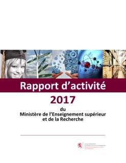 Rapport d'activité 2017 du ministère de l'Enseignement supérieur et de la Recherche