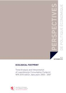 oc_ppe_23_cover.indd, Ecological Footprint - Trend Analysis and Interpretation of Luxembourg's Consumption