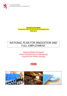 National reform program of the Grand Duchy of Luxembourg 2008