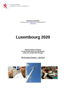 National Reform Programme of the Grand Duchy of Luxembourg 2011