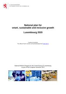 National Reform Programme of the Grand Duchy of Luxembourg 2012