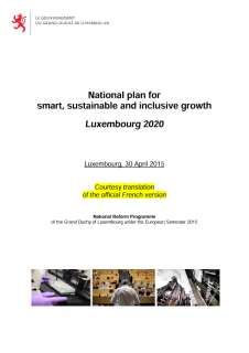 National Reform Programme of the Grand Duchy of Luxembourg 2015