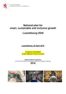 National reform program of the Grand Duchy of Luxembourg 2016