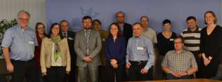 , Corine Cahen avec les membres du Conseil supérieur des personnes handicapées