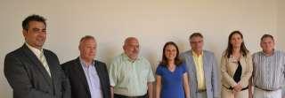 Corinne Cahen avec les membres du LCGB