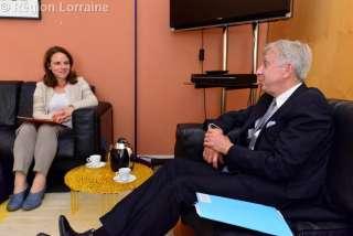 Corrine Cahen avec Jean-Pierre Masseret, président du Conseil régional de Lorraine