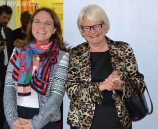 (de g. à dr.) Corinne Cahen et Marie-Josée Jacobs