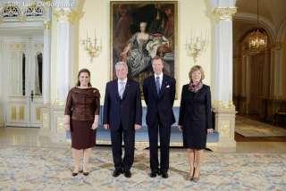 (de g. à dr.): S.A.R. la Grande-Duchesse, Joachim Gauck, président de la République fédérale d'Allemagne, S.A.R. le Grand-Duc, Madame Daniela Schadt