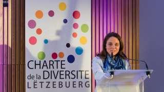 """Corinne Cahen à la séance officielle de signature de la """"Charte de la Diversité Lëtzebuerg"""""""