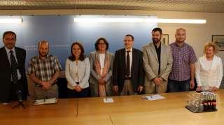 Corine Cahen reçoit une délégation du Comité civil de la ville d'Alep