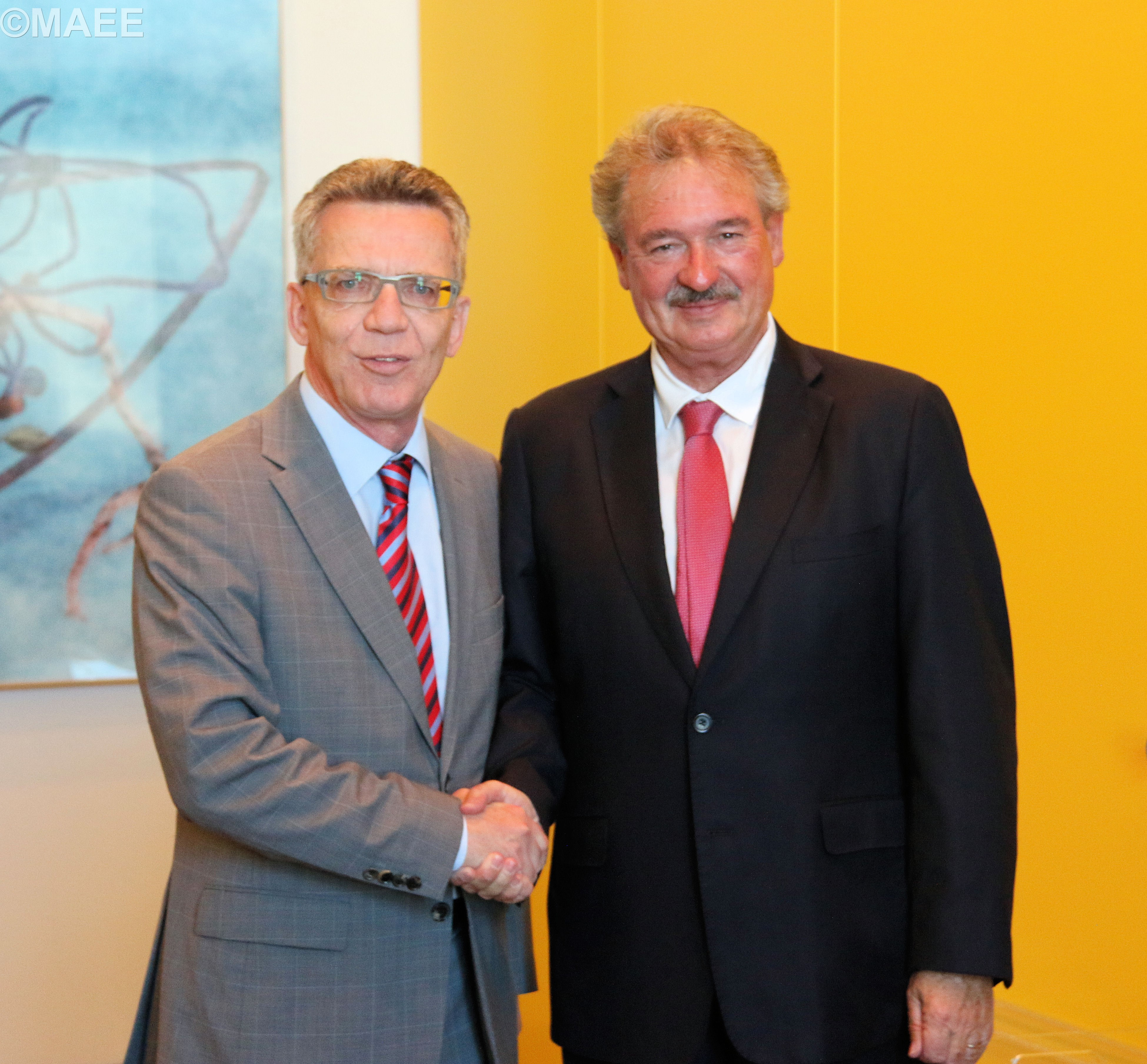 Entrevue de Jean Asselborn avec le ministre fédéral de l\'Intérieur ...