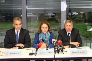 (de g. à dr.) Claude Meisch, Corinne Cahen, François Bausch