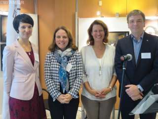 (de g. à dr.) Cristina Rigman, Corinne Cahen, Caroline Milbert, Marc Crochet