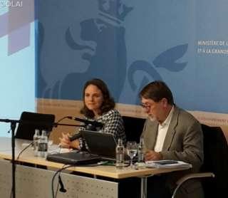 Corinne Cahen, Charles Margues, Présentation du sondage TNS-ILRES relatif à l'accueil et à la présence des réfugiés au Luxembourg