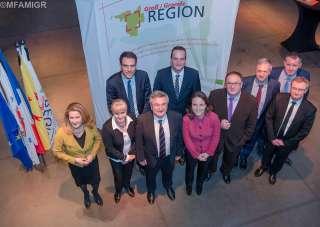 Corinne Cahen au Sommet intermédiaire de la Grande Région sous la Présidence de la Wallonie à Marche-en-Famenne