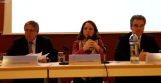(de g. à dr.) François Bausch, Corinne Cahen, Claude Meisch