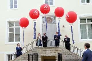 Inauguration Centre de Jeunesse Marienthal 08.07.2016, (de g. à dr.) Claude Meisch; S.A.R. la Grande-Duchesse héritière; S.A.R. le Grand-Duc héritier; François Bausch; Guy Arendt