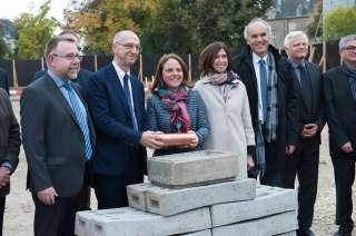 Pose de la 1re pierre au Park  Grundsteinlegung im Park.jpg, Pose de la 1re pierre au Park