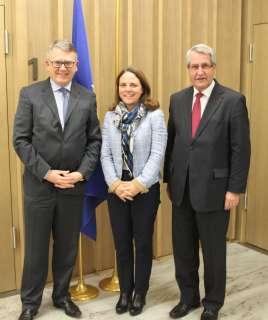 Nicolas Schmit et Corinne Cahen ont rencontré le président du Conseil régional du Grand Est
