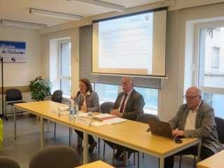 (de g. à dr.) Corinne Cahen; Roland Borosch, Leitender Ministerialrat im Ministerium für Arbeit, Integration und Soziales des Landes NRW