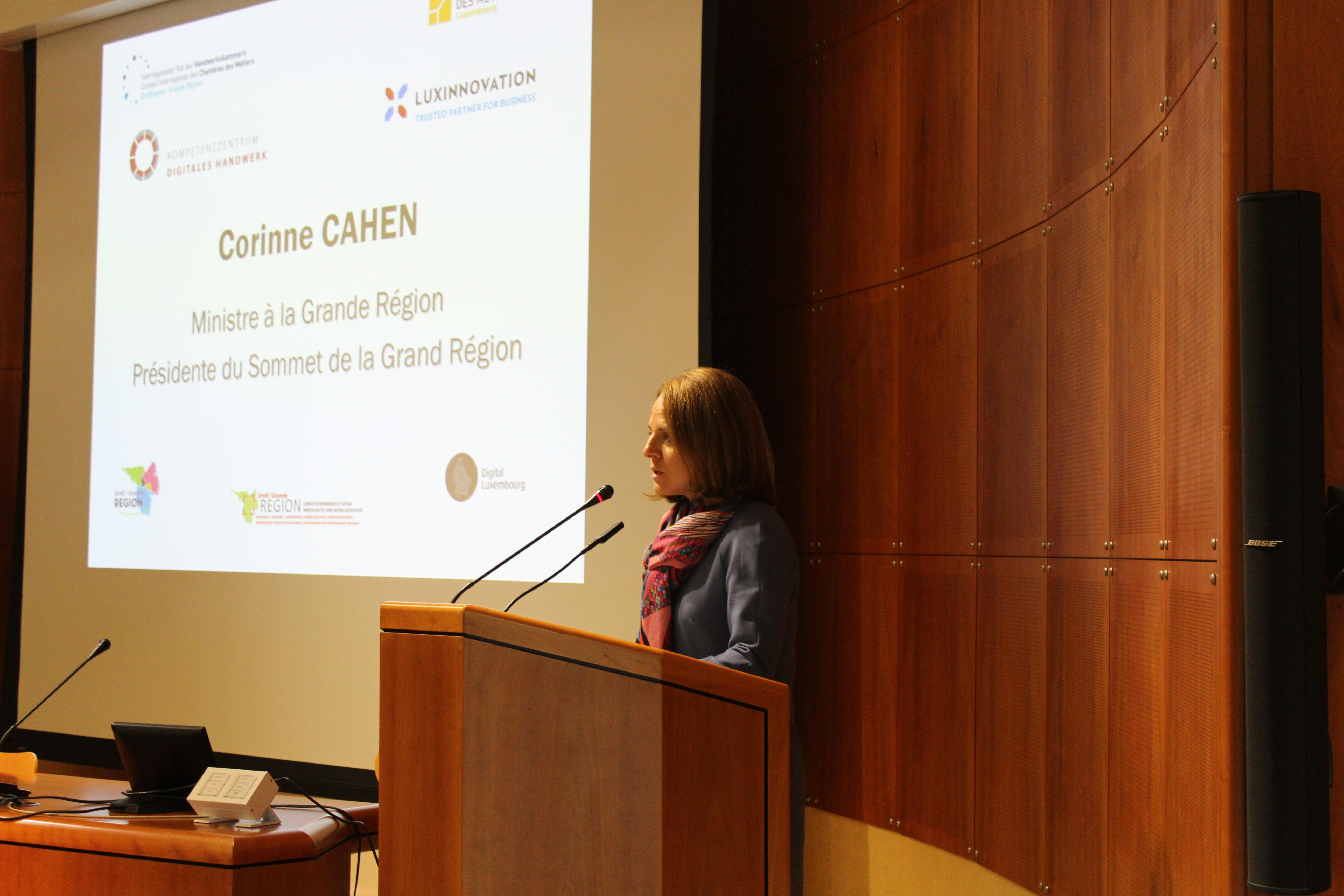 Corinne Cahen, ministre de la Famille et de l'Intégration