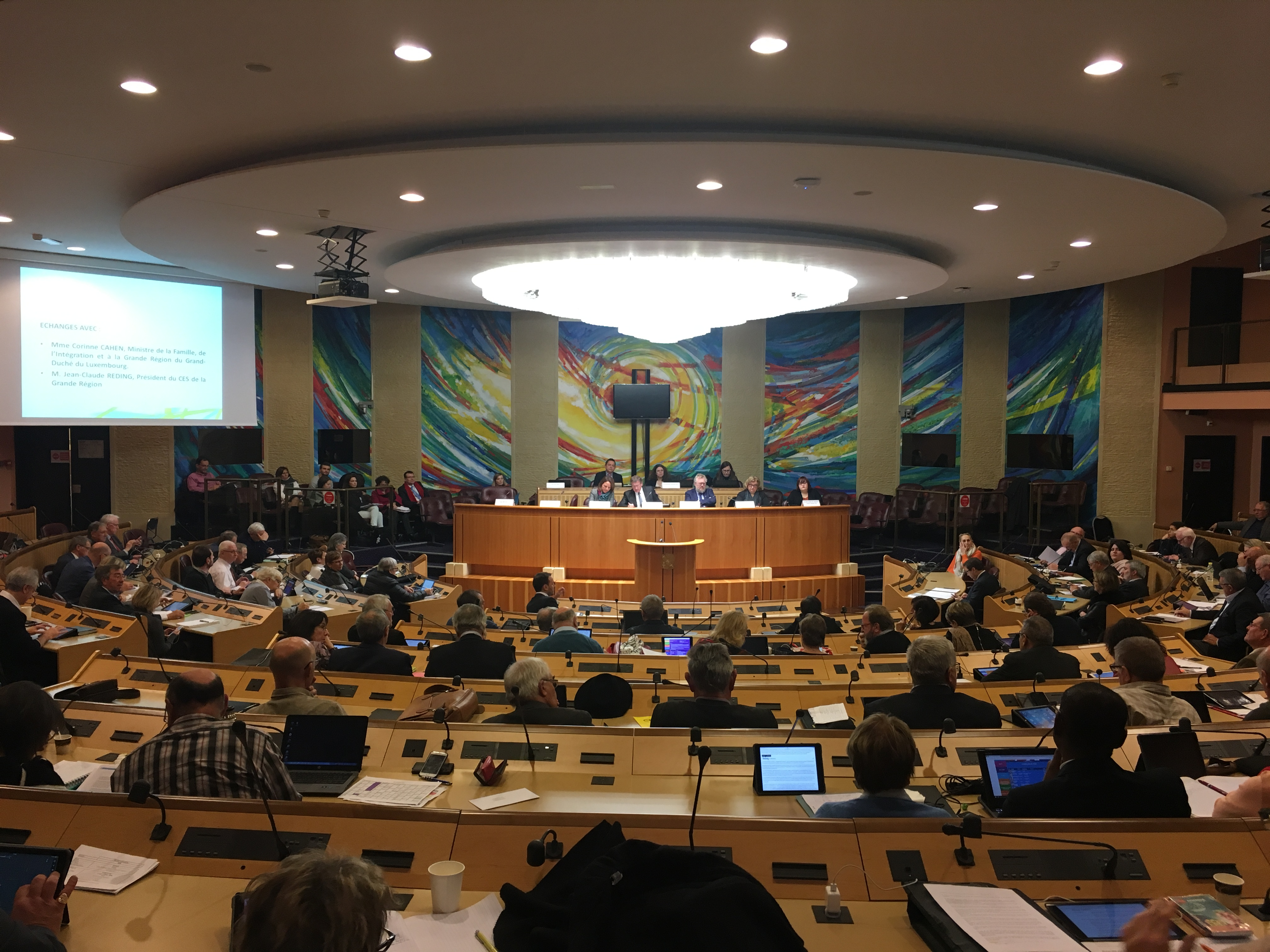 Corinne Cahen à l'assemblée plénière du CESER