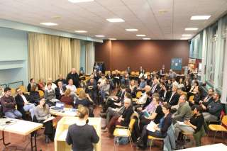 Diskussionsrunde vom 4. Dezember 2017 im Kulturzentrum in Beggen
