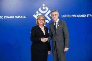 Conseil informel JAI, (de g. à dr.) Tsetska Tsacheva, ministre de la Justice bulgare; Félix Braz, ministre de la Justice
