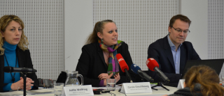 (de g. à dr.): Joëlle Welfring, directrice adjointe Administration de l'environnement; Carole Dieschbourg, ministre de l'environment; Olaf Munichsdorfer