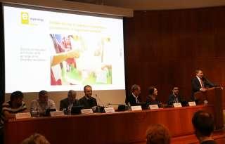Marc Hansen lors de la réunion d'information sur le paquet Klimabank qui a eu lieu à la Chambre des Métiers