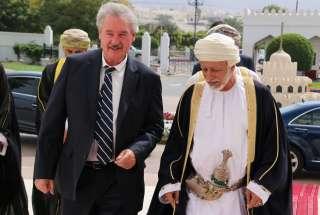 Jean Asselborn avec le ministre responsable des Affaires étrangères du Sultanat d'Oman, Yousuf bin Alawi bin Abdullah