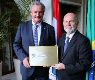Jean Asselborn avec l'ambassadeur du Luxembourg au Brésil, Carlo Krieger
