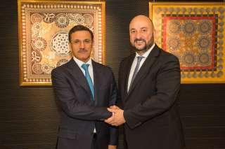 Étienne Schneider avec le ministre de l'Économie des Émirats arabes uni, S.E. Sultan Bin Saeed Al Mansoori