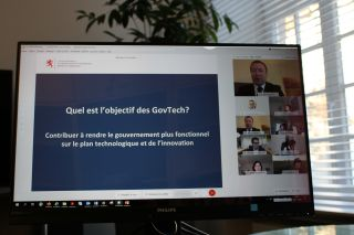 Minister Marc Hansen presented the GovTech Lab and its first challenge 'Bye bye Robots!' at the first state press conference organised entirely by videoconference.